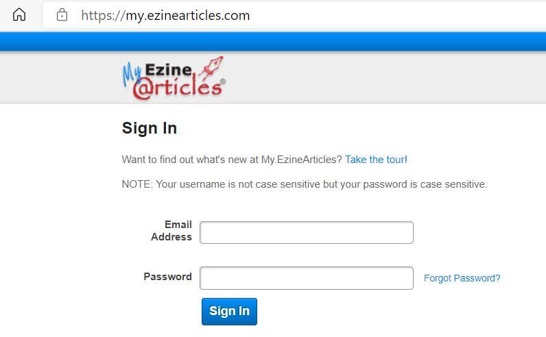 Ezine Articles Tutorial